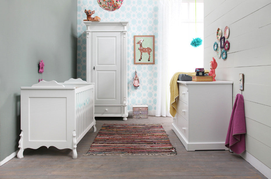 Kidsmill Chalk White 3pc Cot Room Set Includes FREE Delivery & Assembly! 6-8 weeks delivery - Baby Gosling  - 1