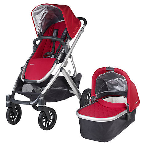 Uppababy VISTA Pram + Pebble Plus Car Seat and 2 wayfix base - Denny Red (2015) - Baby Gosling  - 1
