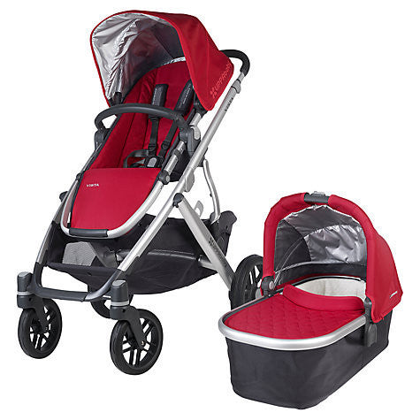 Uppababy VISTA Pram + Cabrio Car Seat and 2 wayfix base - Denny Red (2015) - Baby Gosling