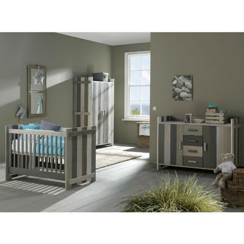 Europe Baby Jelle Cot Bed 3 Piece Room Set (Mix)