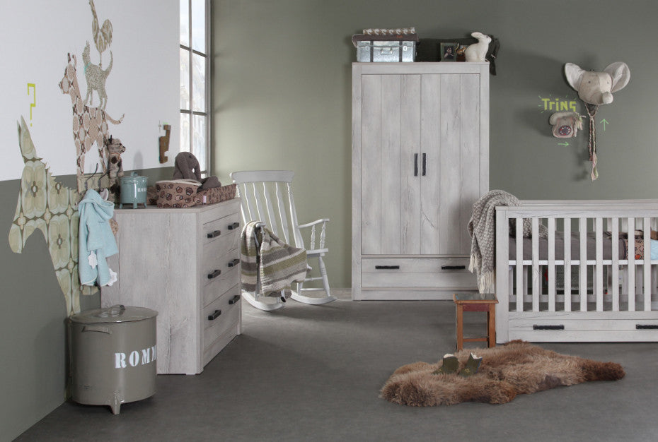 Kidsmill Fjord Grey 3 pc Cotbed Room Set Includes FREE Delivery and Assembly! 6-8 weeks delivery - Baby Gosling  - 1