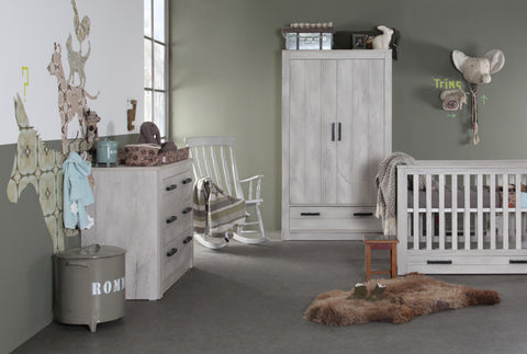 Kidsmill Fjord Grey 3 pc Cotbed Room Set Includes FREE Delivery and Assembly! 6-8 weeks delivery