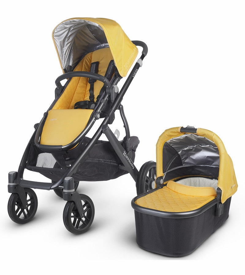 Uppababy VISTA Pram + Pebble Plus Car Seat and 2 Wayfix Base - Maya Marigold (2015) - Baby Gosling  - 1