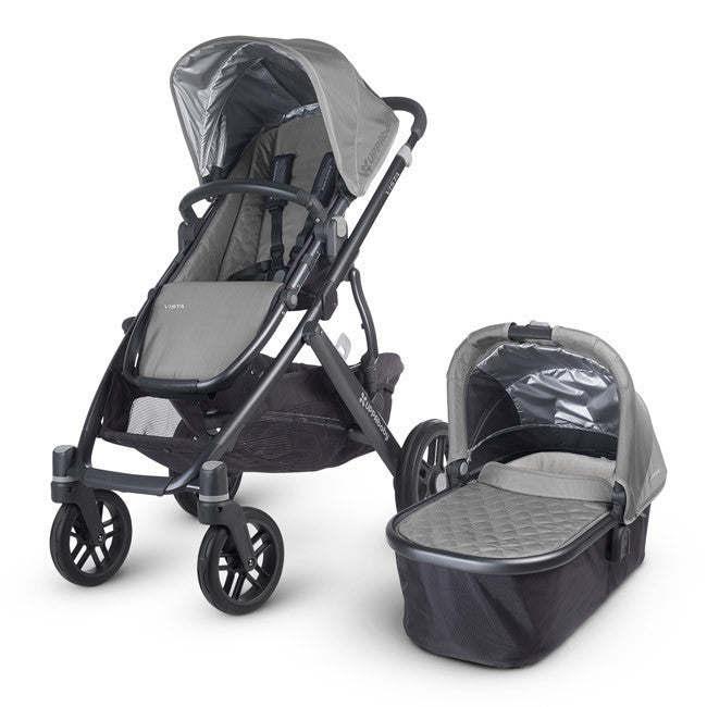 Uppababy VISTA Pram + Cabrio Car Seat and 2Wayfix Base - Pascal Silver (2015) Pre Order Jan - Baby Gosling  - 1