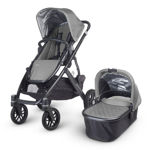 Uppababy VISTA Pram + Cabrio Car Seat and 2Wayfix Base - Pascal Silver (2015) Pre Order Jan