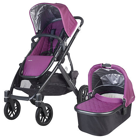 Uppababy VISTA Pram + Pebble Plus Car Seat and 2 Wayfix Base - Samantha Amethyst (2015)
