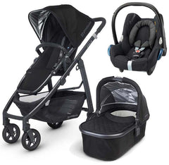 Uppababy Cruz Pram With Carrycot Jake Black 2015 and Maxi Cosi Cabrio Car Seat - Baby Gosling  - 1