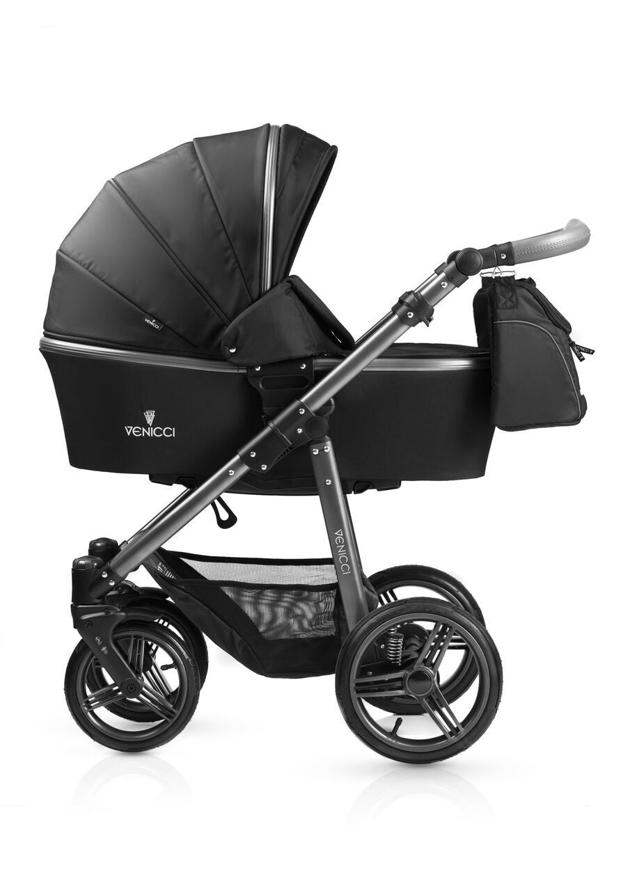 New! Venicci Carbo Black Travel System - Baby Gosling