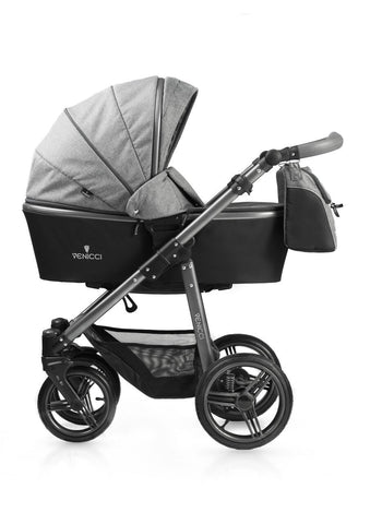 New! Venicci Carbo Grey Travel System with Maxi Cosi adaptors (No car seat)