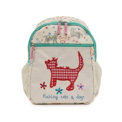 Pink Lining Mini Rucksack - Raining Cats and Dogs - Baby Gosling