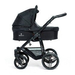 Venicci Travel System (Open Basket) - Black Chassis / Black - Baby Gosling  - 1