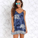 Blue Tie Dye Elephant Dress