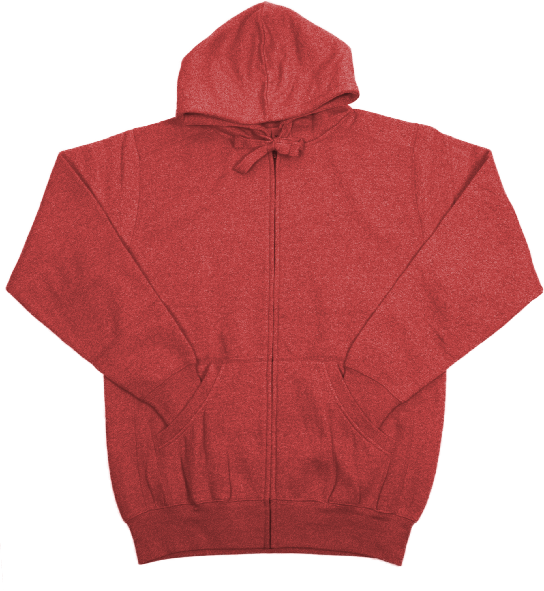 Unisex Peppered Zip Up Hoodie (AVMT789)