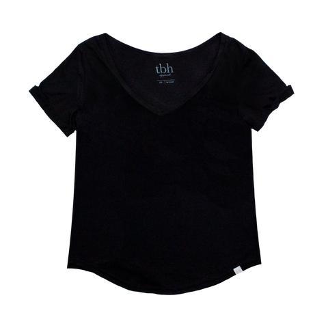 Ladies 50/50 V-Neck Tee with Scoop (AV5892)