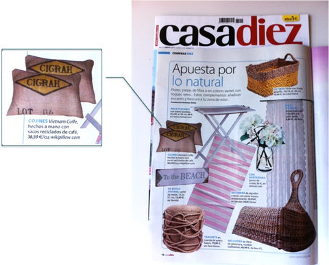 Wiki Pillow en Revista Casa Diez - Mayo 2015