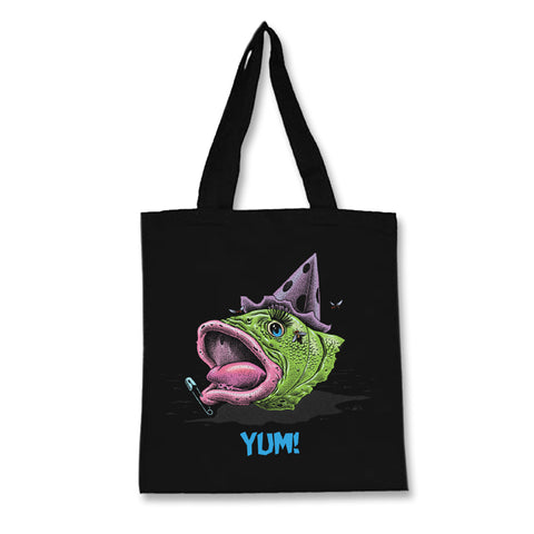 Yum Fish Head: Covered in Punk Tote