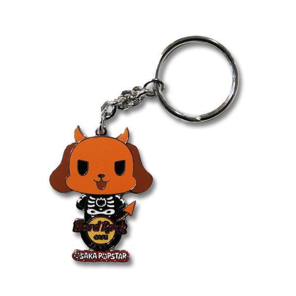Skeleton Devil Dog Hard Rock Keychain