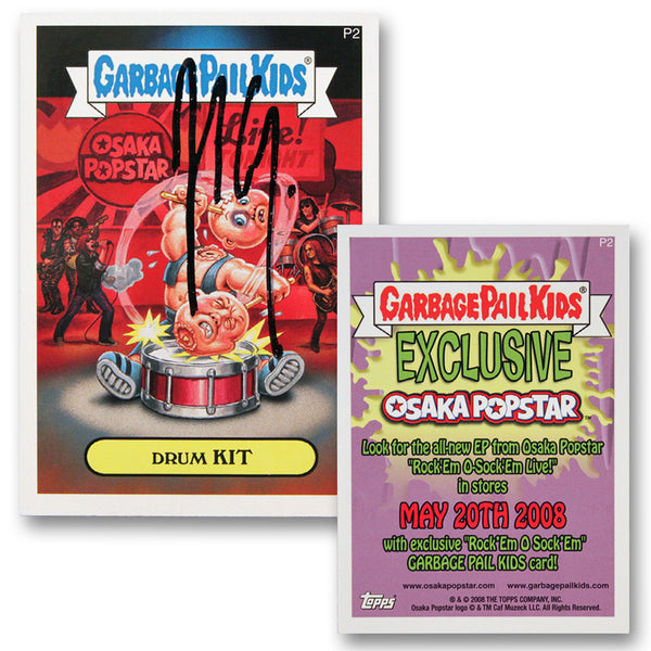 """Drum Kit"" Signed Garbage Pail Kids Card"