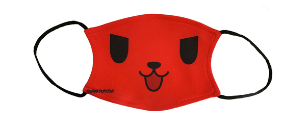 Red Devil Dog All Over Face Mask