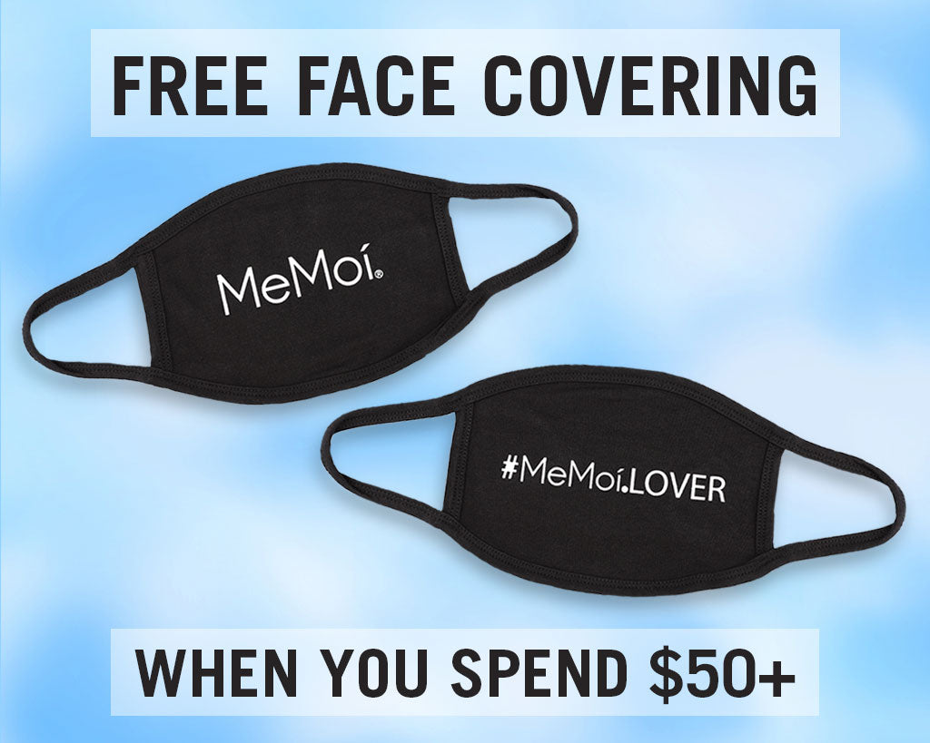 Get a free MeMoi Face Covering + Free Shipping on orders of $50+