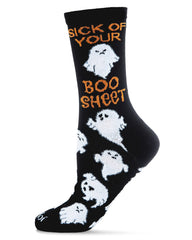 Boo Sheet Novelty Crew Socks