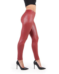 Fever Red Faux/Vegan Leather Leggings