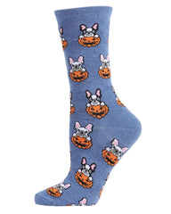 Pumpkin Puppy Holiday Crew Socks