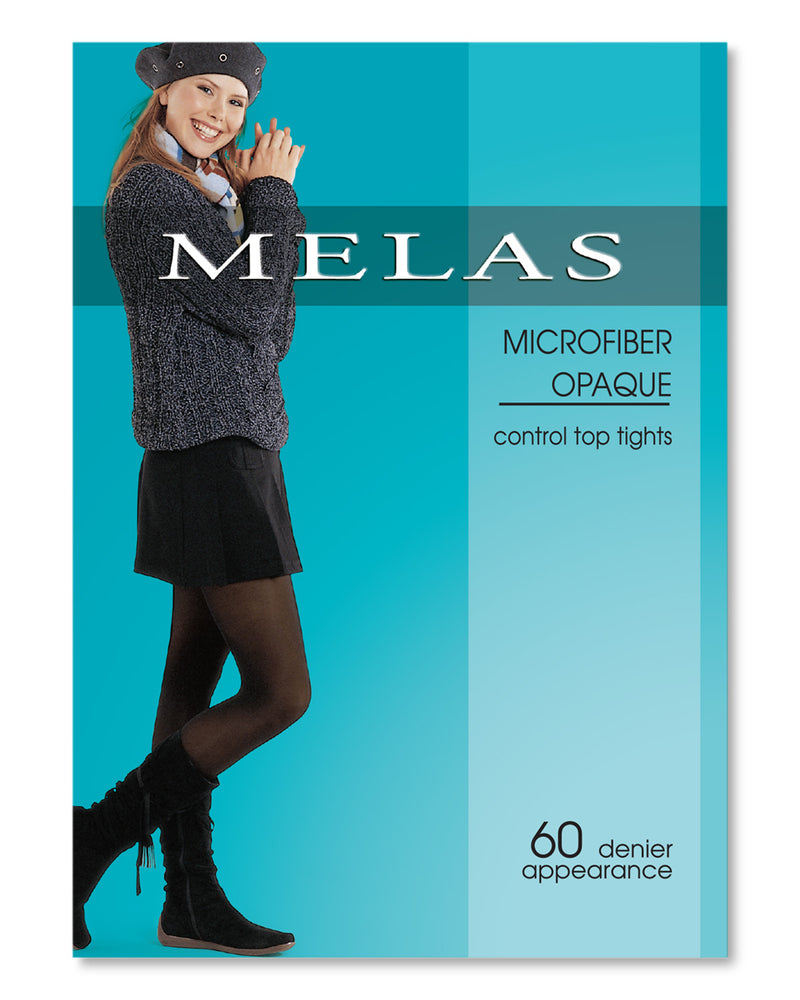 Melas Microfiber Control Top Tights – 60 Denier – 6 Pack
