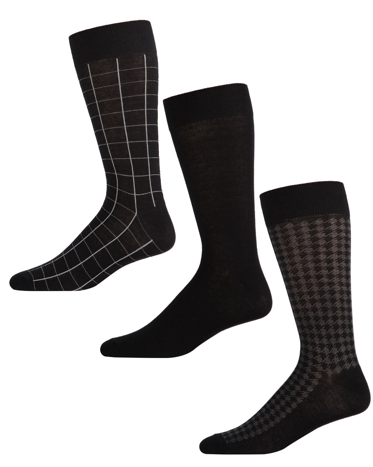 Houndstooth Crew 3-Pack Sock