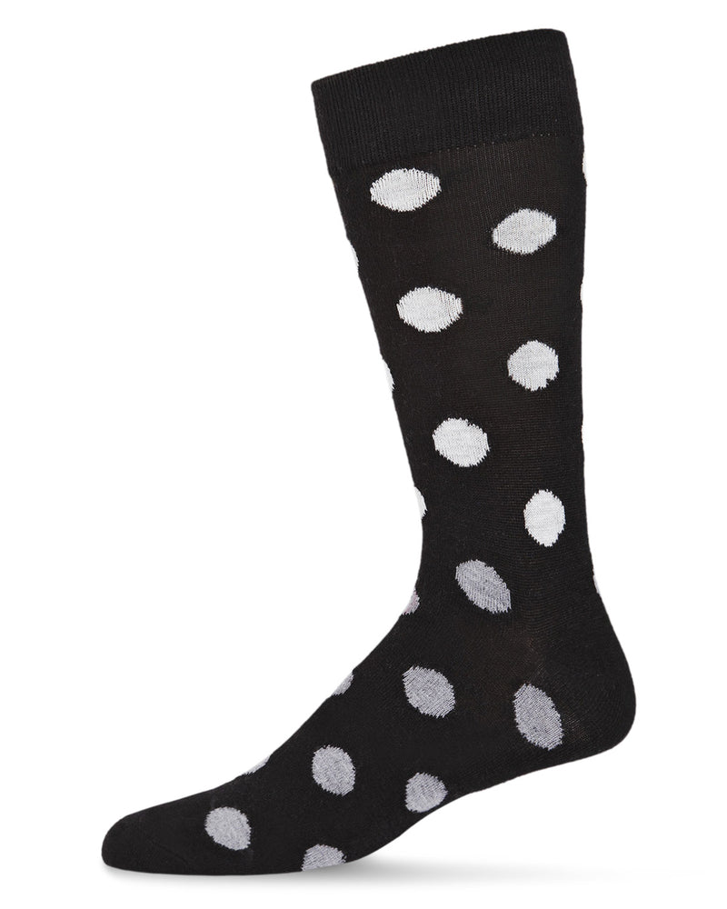 Polka Dot Cashmere Men's Crew Socks