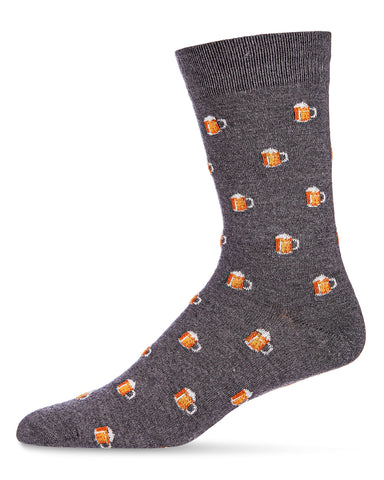 Beer Mugs Cashmere Men's Crew Socks