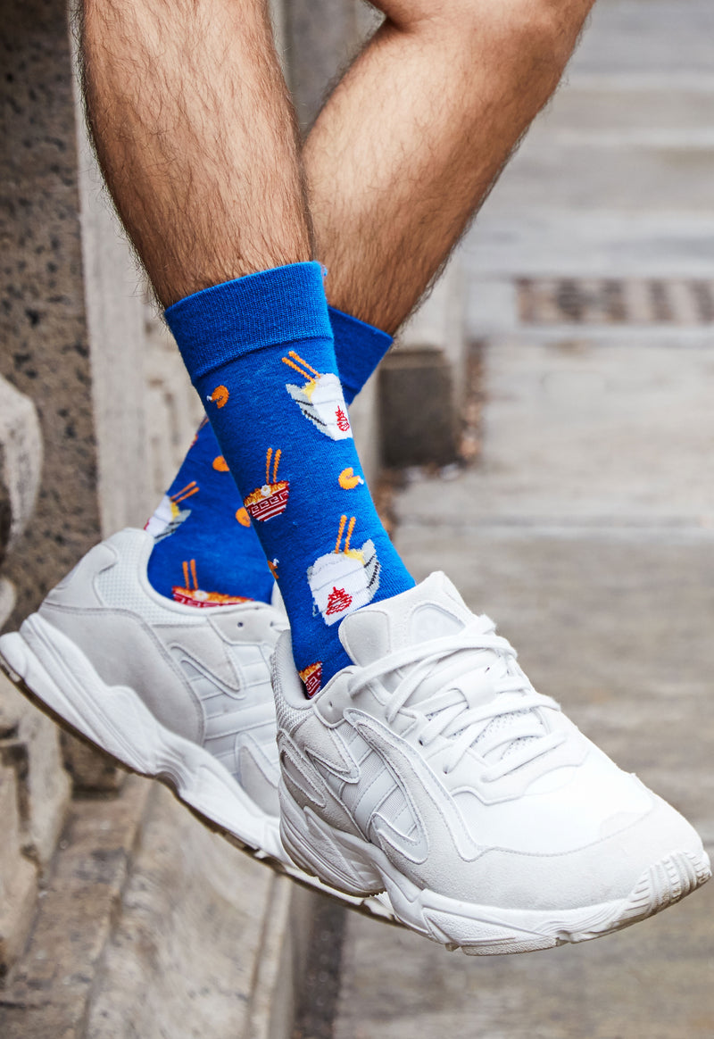 Let's Order Takeout Bamboo Blend Men's Crew Socks