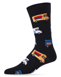 Food Trucks Bamboo Blend Men`s Crew Socks