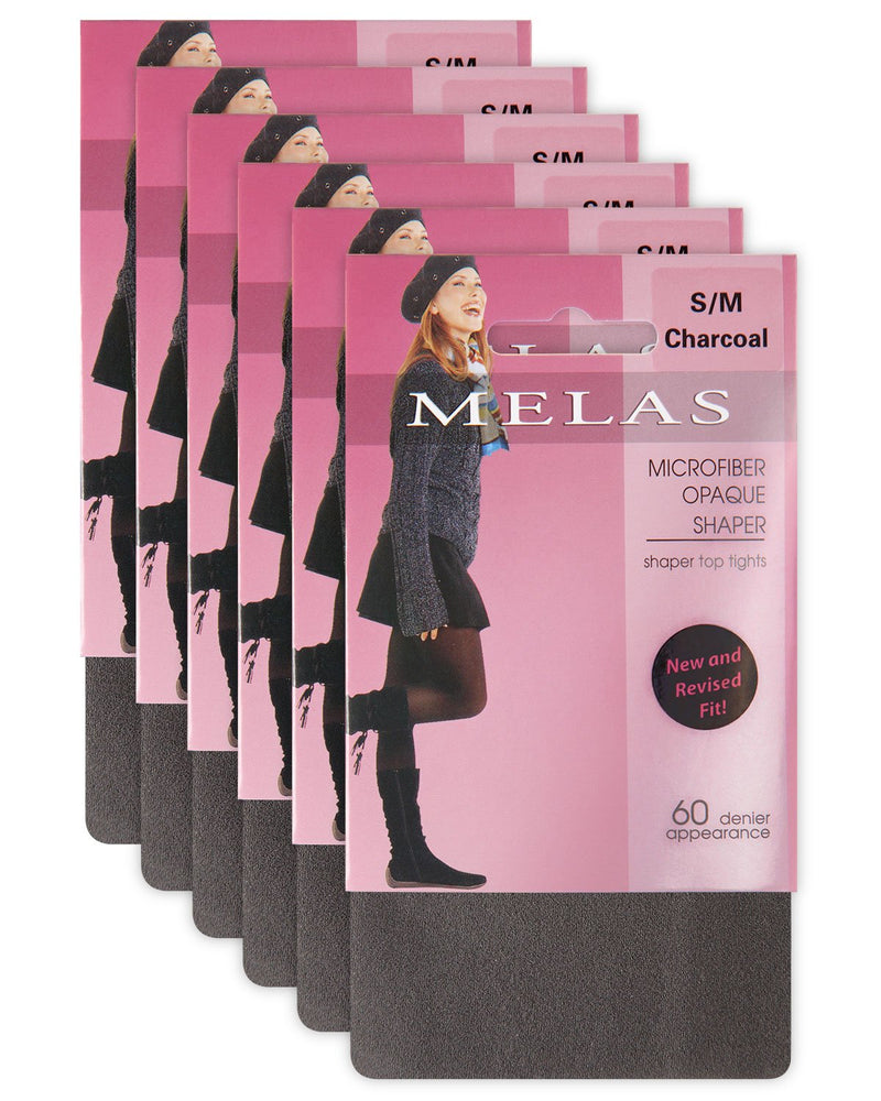 Melas Microfiber Opaque Shaping Tights – 60 Denier – 6 Pack