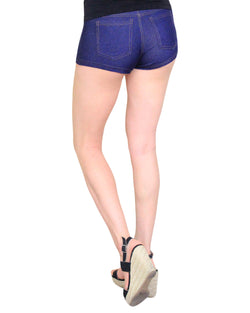 MeMoi Jouces Denim Cheeky Shorts