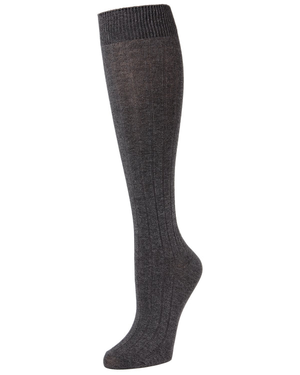 Girls Ribbed Uniform Knee Socks