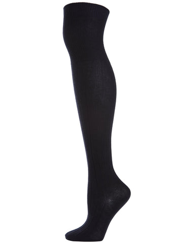 Girls Over The Knee Ribbed Uniform Socks