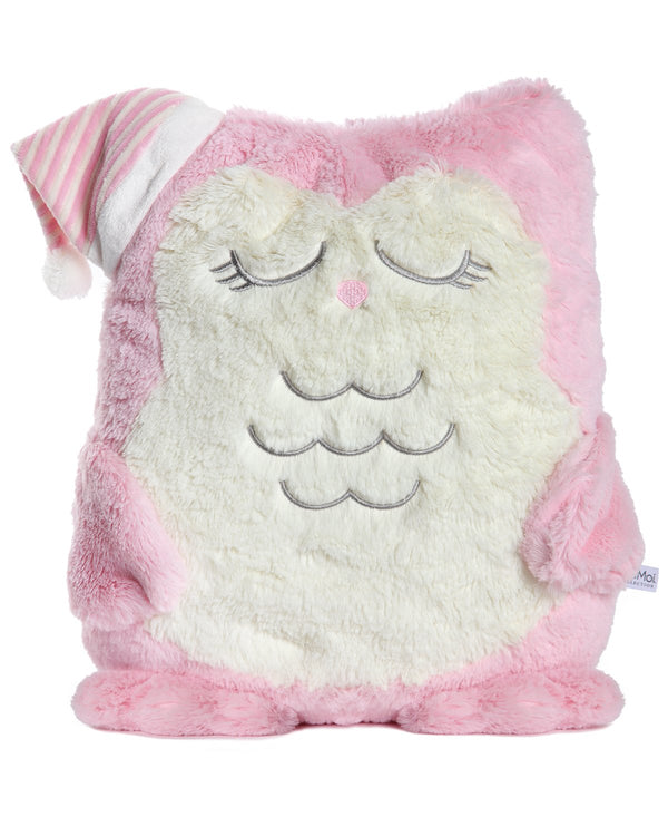 MeMoi Cozy Buddies Owl | Stuffed Animals & Plush Toys w/ Herat Socks | Sleepy Owl CCB00166