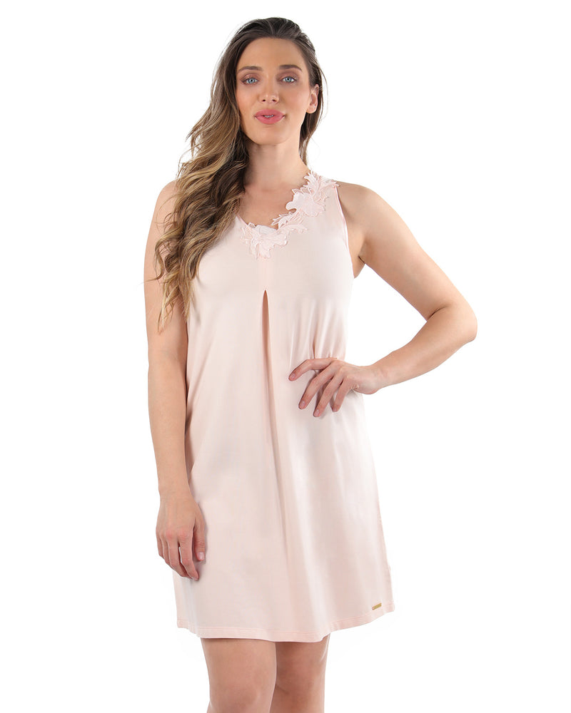 Floral Lace Chemise | MeMoi Womens Sleepwear Collection | Pajamas for Women | CreolePink CCS04479 - 2