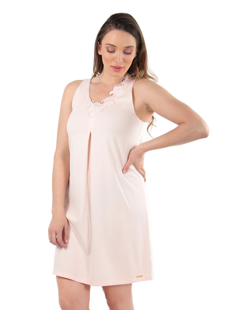 Floral Lace Chemise | MeMoi Womens Sleepwear Collection | Pajamas for Women | CreolePink CCS04479 - 3