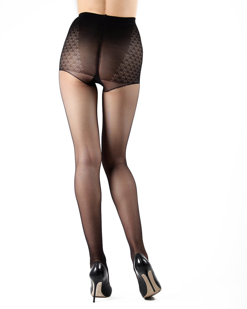 Class Control Top Pantyhose | Sheer Tights by Levante | CLASS CT | Nero 1