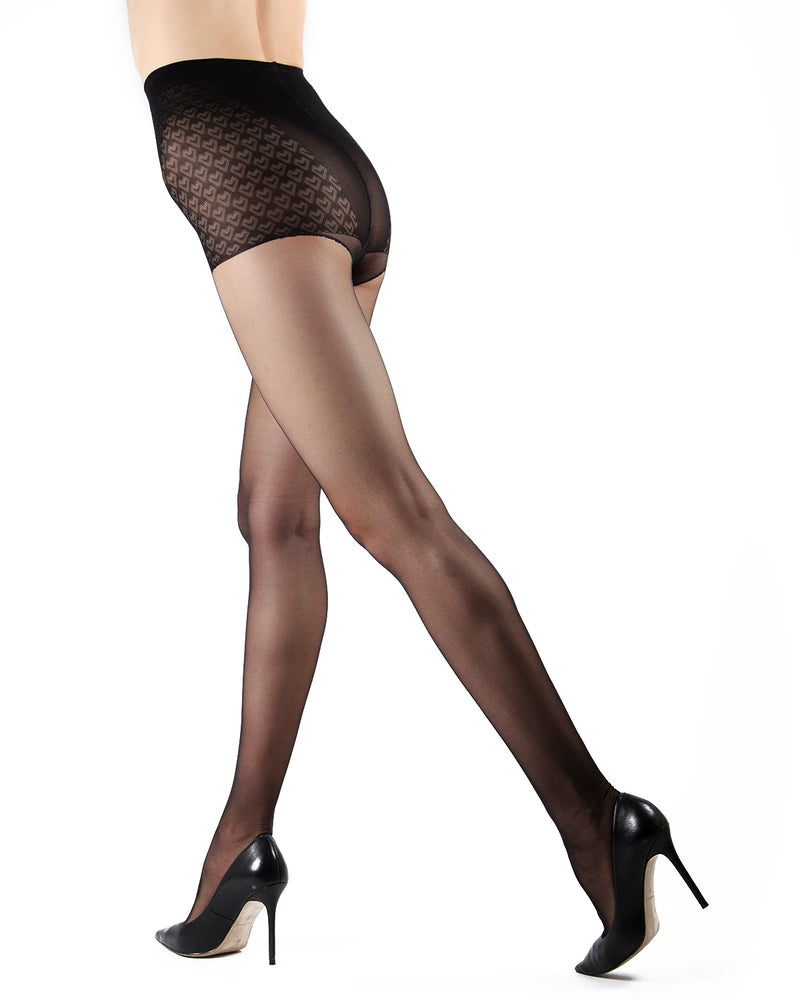 Class Control Top Pantyhose | Sheer Tights by Levante | CLASS CT | Nero
