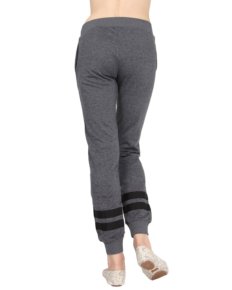 MeMoi Collection Jogger Pants with Contrast Ribbon Stripes