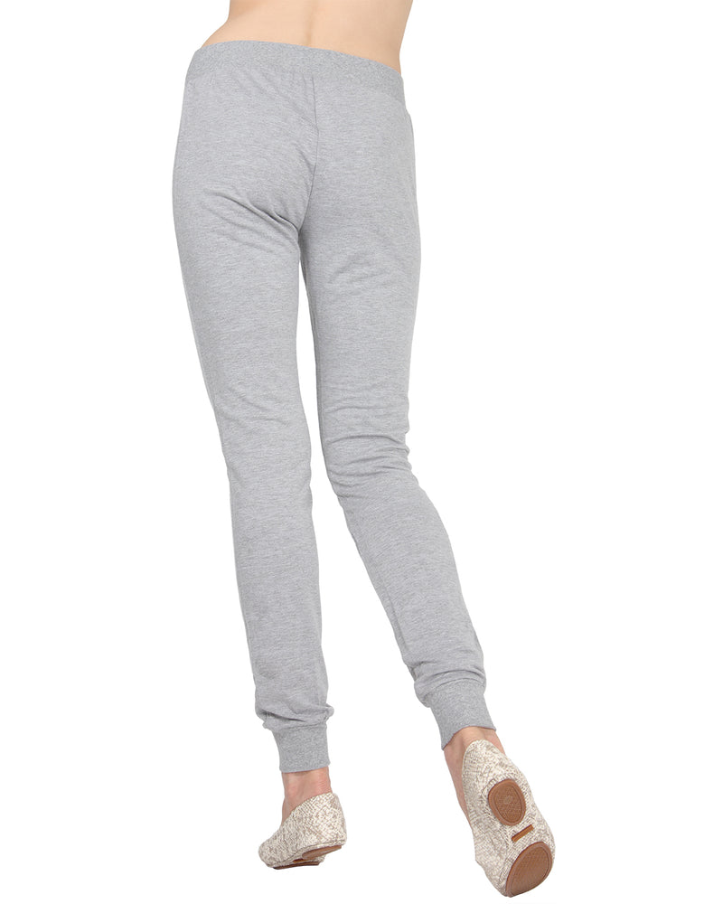 MeMoi Jogger Pants w/ Ribbed Waistband | Women's Loungewear Collection (Rear) | Designer - Asi Efros |  Gray Heather CLP00044
