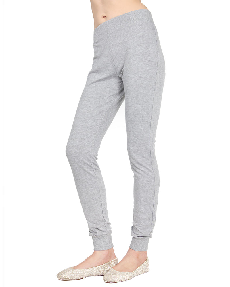 MeMoi Jogger Pants w/ Ribbed Waistband | Women's Loungewear Collection (Side1) | Designer - Asi Efros |  Gray Heather CLP00044