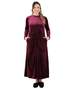 MeMoi Collection Velour Ruched Neck Lounger Gown