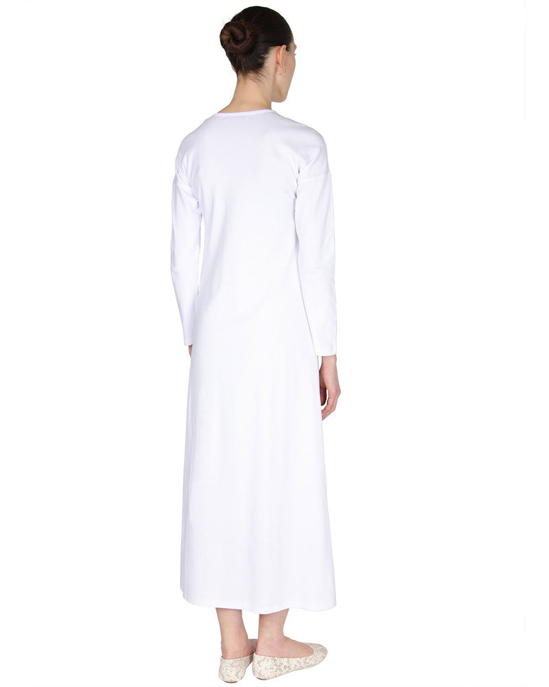 MeMoi Nightgown with Floral Motif | Women's Sleepwear and Loungewear (rear1) | White CNL00154