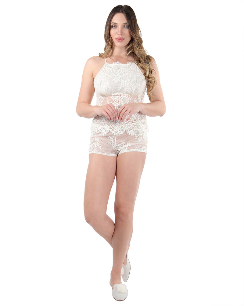 MeMoi Collection Lace Cami Tap Lingerie Set
