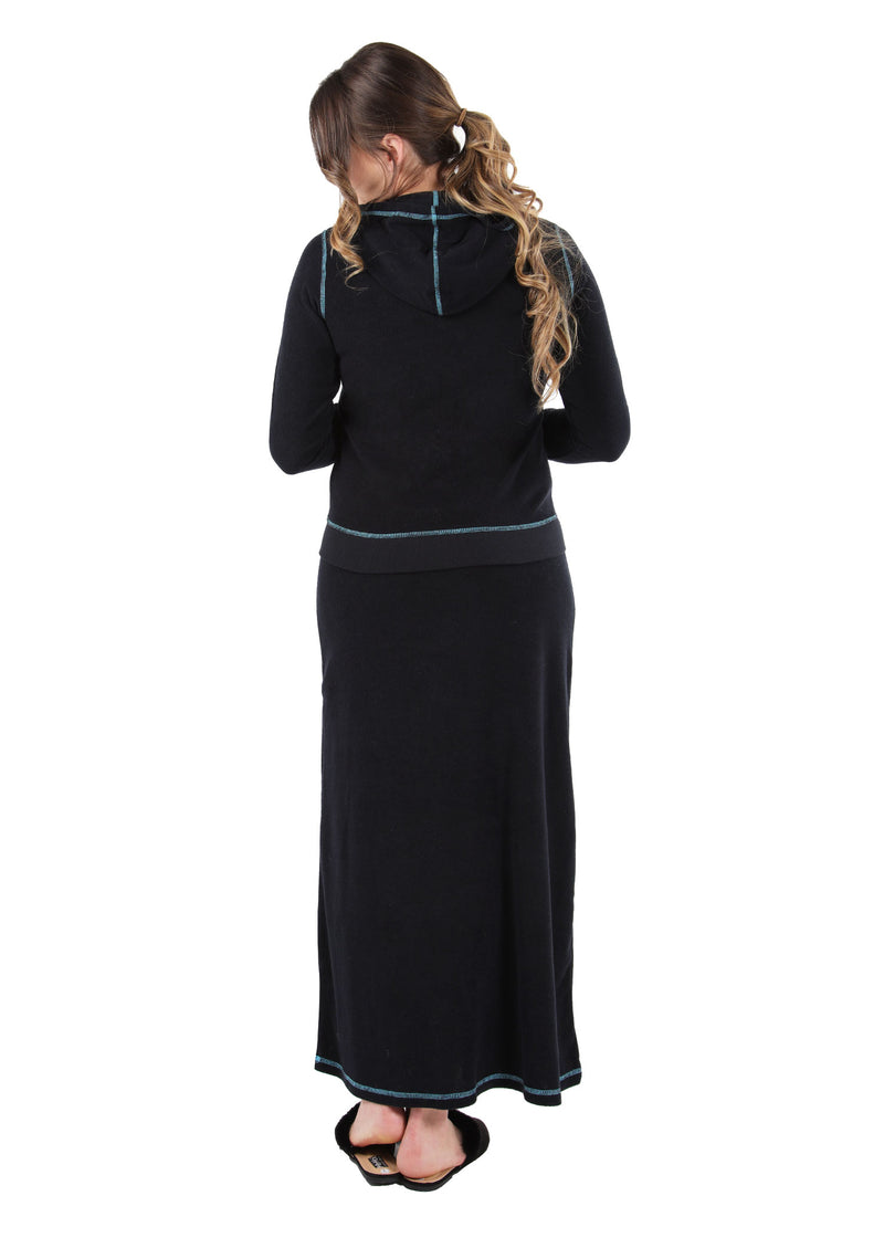 MeMoi Collection Terry Cloth Hooded Jacket & Skirt Set