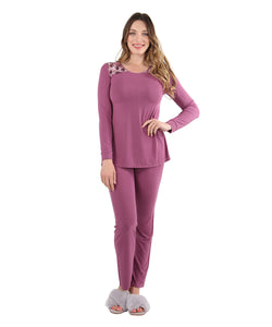 Enchanted Romance Embroidered Pajama Set | Loungewear By MeMoi®  | CPJ05245 | Tulipwood